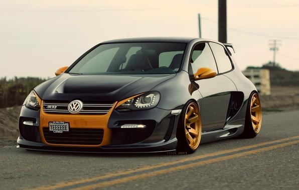Picture auto, Volkswagen, car, R32, Golf 6