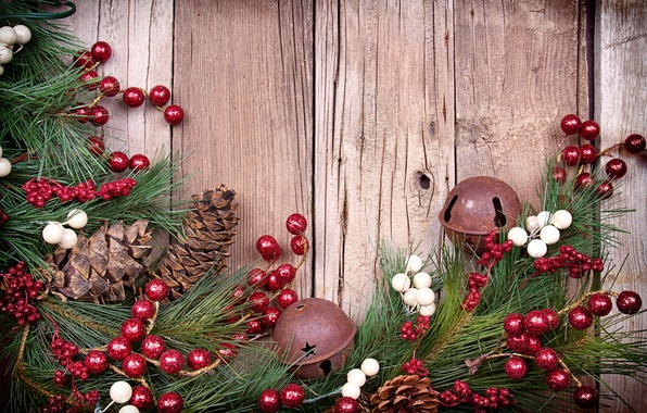 Picture decoration, berries, tree, bumps