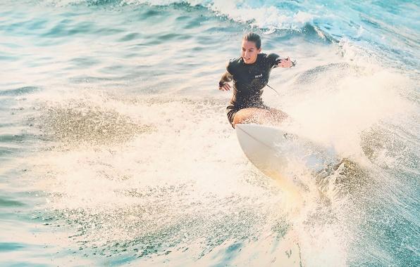 Picture sea, girl, Board