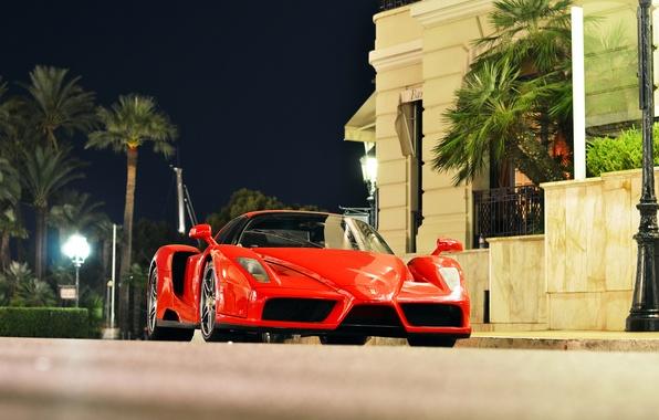 Picture night, the city, Ferrari, Enzo, Monaco