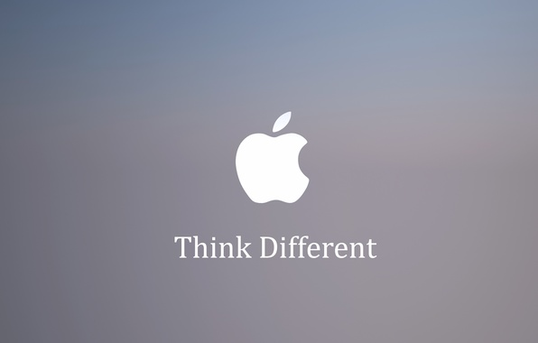 Picture Apple, Apple, Think Different, slogan.