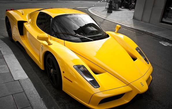 Picture yellow, tuning, supercar, ferrari, Ferrari, enzo, yellow, luxury