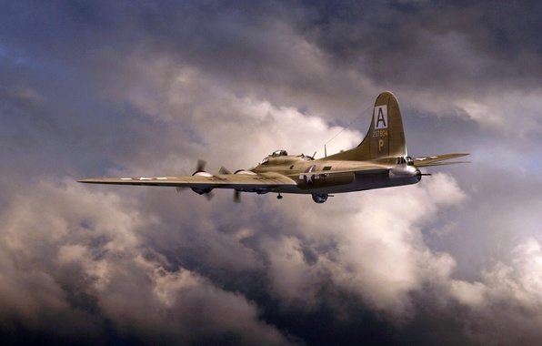 Picture art, Boeing, B-17, Flying fortress, Flying Fortress