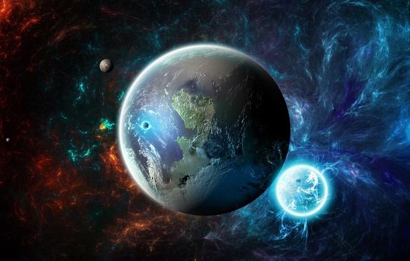 Picture stars, nebula, space, the universe, Planeta