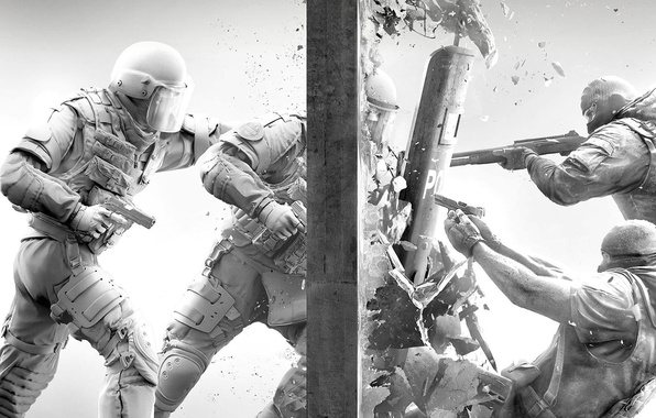 Picture Gun, Wall, Police, Weapons, Shooting, Shield, COP, The bandits, Shotgun, Special forces, Breakthrough, Equipment, Storm, …