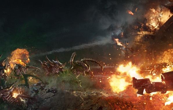 Picture war, Warhammer, Tyranids, alien, Warhammer 40,000, Warhammer 40K, Shield of Baal: Exterminatus, Flesh Tearers