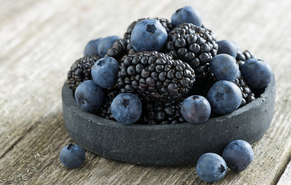 Picture blue, berries, BlackBerry, blueberries