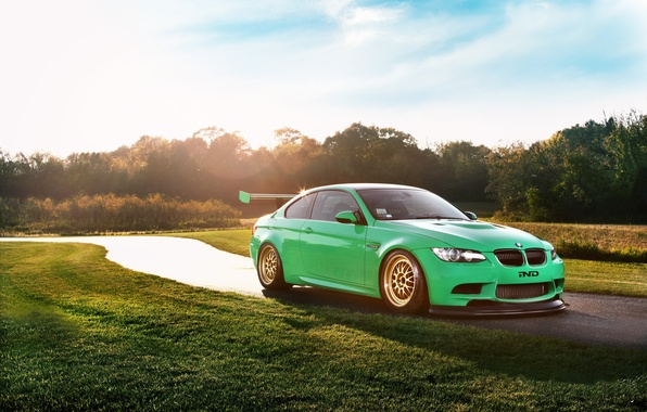 Picture the sky, the sun, BMW, BMW, Blik, Coupe, front, E92, race car, IND, Green Hell, …
