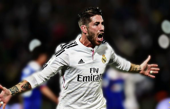 Picture football, sport, tattoo, player, Real Madrid, Real, football field, Sergio Ramos, Ramos, Sergio, Sergio Ramos, …