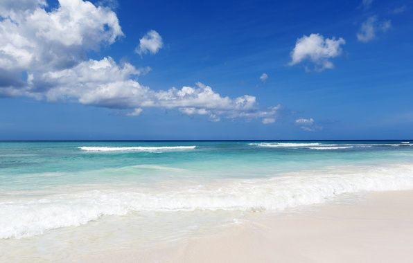 Picture sea, wave, tropics, coast, waves, beach, sea, blue water, tropics, blue water