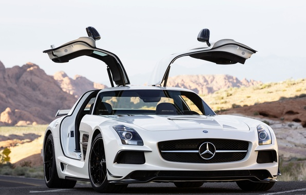Picture Mercedes Benz, AMG, SLS, Black Series