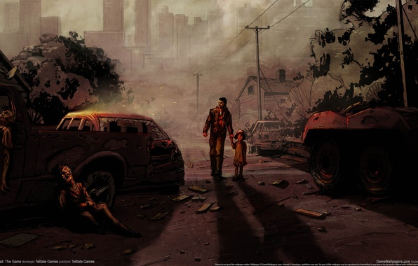 Picture Apocalypse, the game, figure, child, art, zombies, male, art, the game, the walking dead, the …