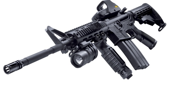 Picture Wallpaper, Weapons, USA, USA, Machine, M4A1, Foregrip, Kit, Tactical flashlight, Assault rifle