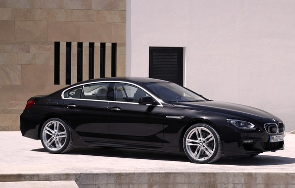 Picture Auto, Black, BMW, Machine, Boomer, BMW, Day, Sedan, 6 Series, Side view