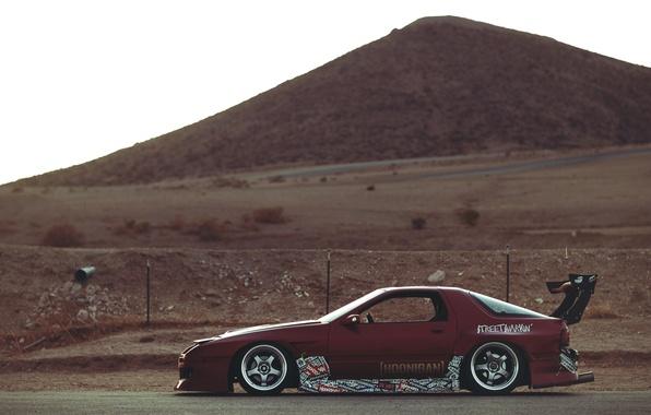 Picture desert, mazda, rx7, Mazda
