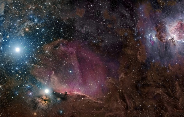 Picture stars, nebula, dust, gas, constellation, Orion, M42