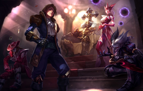 Picture lol, League of Legends, ezreal, mordekaiser, Demon Jester, syndra, Shaco