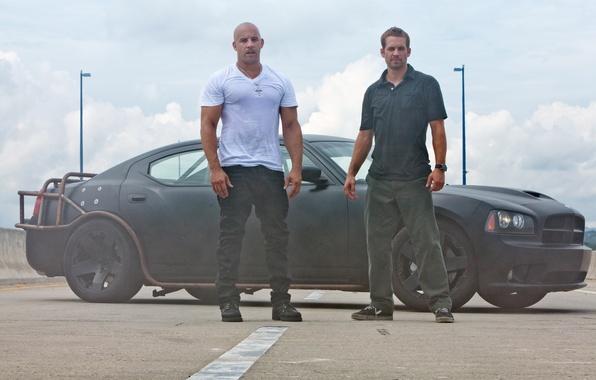 Picture black, VIN Diesel, black, Dodge, dodge, charger, Vin Diesel, Paul Walker, fast five, fast and …