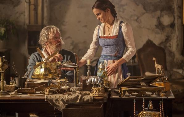 Picture cinema, Disney, Emma Watson, movie, film, Beauty and The Beast, fairy tale, Kevin Kline
