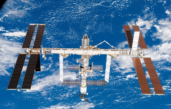 Picture station, in orbit, earth from space, ISS