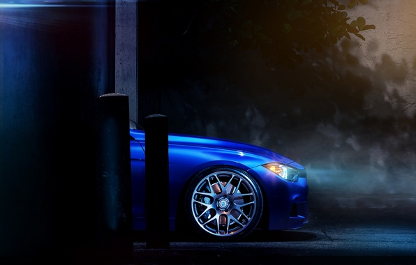 Picture Auto, Night, BMW, Wall, Tuning, Machine, Drives