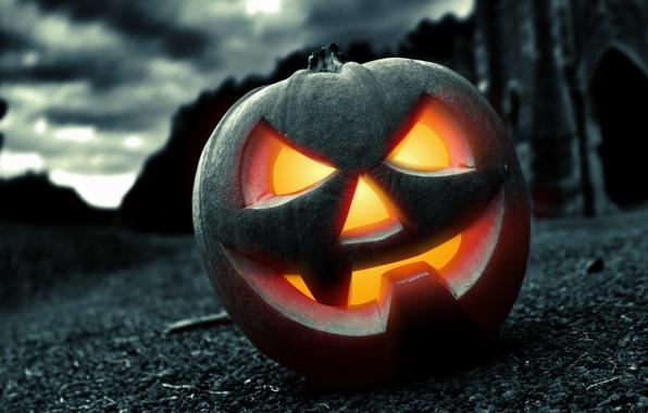 Picture night, fear, Halloween, pumpkin, horror, Halloween, face, holiday, pumpkin