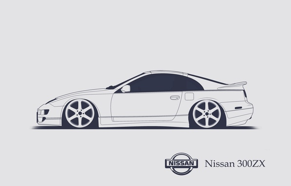 Picture Nissan, 300ZX, Minimalistic, SrCky Design