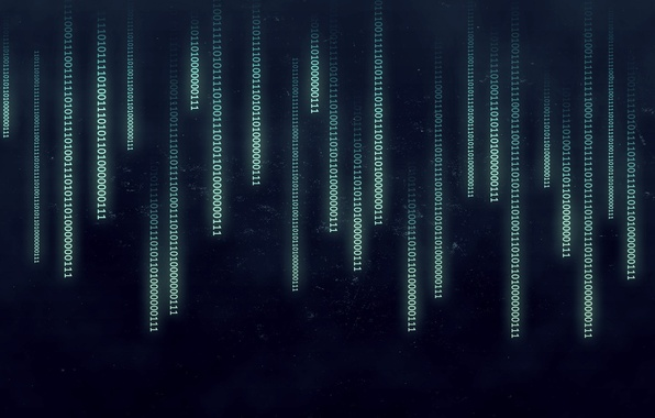 Picture abstract, Matrix, binary, numbers