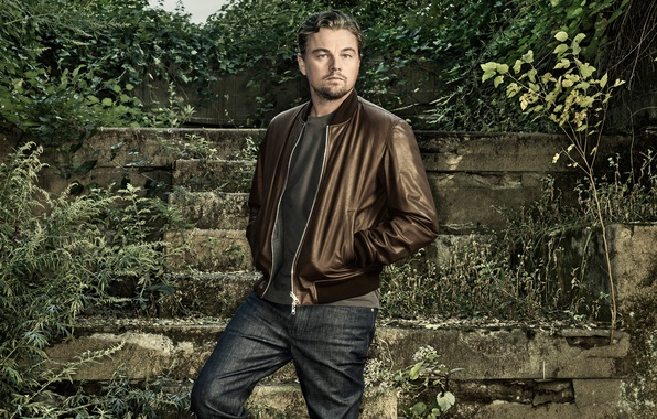 Picture jeans, jacket, photographer, ladder, the ruins, actor, stage, the bushes, photoshoot, Leonardo DiCaprio, Leonardo DiCaprio, …
