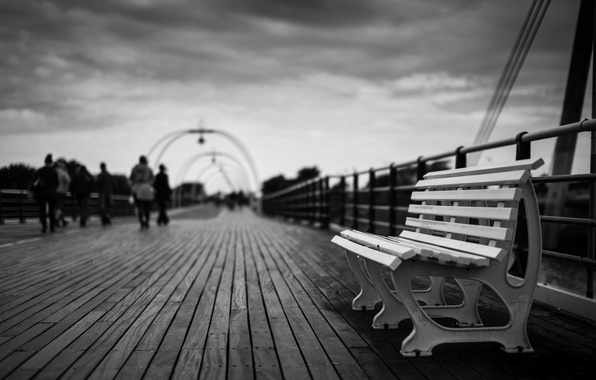 Picture bench, background, people, widescreen, Wallpaper, mood, people, shop, shop, black and white, wallpaper, bench, widescreen, …