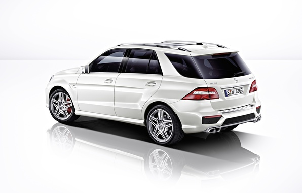 Picture Mercedes, jeep, white background, Mercedes, AMG, side, ML 6.3 AMG