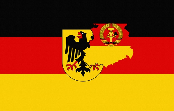 Picture Germany, Flag, Eagle, Coat of arms, Germany