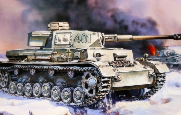 Picture figure, A IV, the Germans, the Wehrmacht, Panzer 4, medium tank