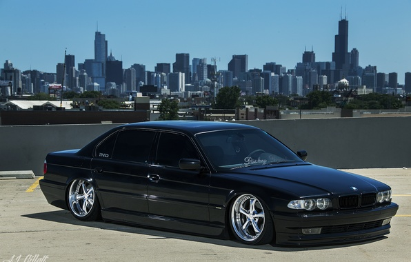 Wallpaper Chicago BMW Tuning Stance E38 Boomer