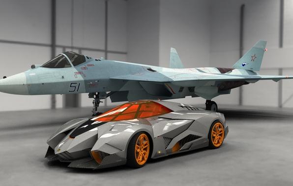Picture Concept, Auto, Lamborghini, Fighter, Car, 2013, Egoista