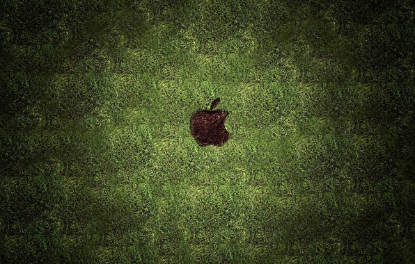 Picture grass, lawn, trail, apple, mac, hi-tech