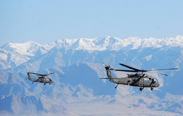 "Picture flight, mountains, Black Hawk, helicopters, ""Black hawk down"", UH-60M"