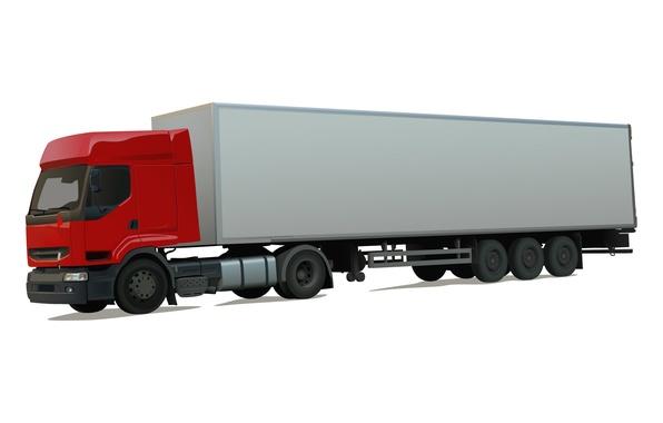 Picture vector, truck, van, long-length