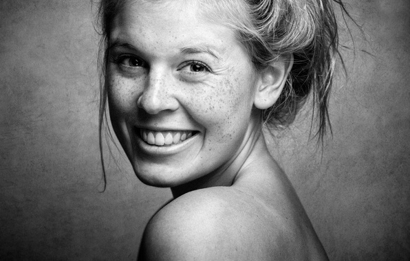 Picture smile, portrait, freckles, smile