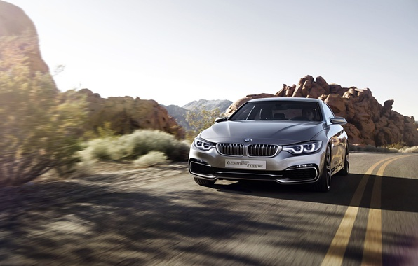 Picture Concept, BMW, Rock, Coupe, Style, Road, 2013, Silver, 4 series