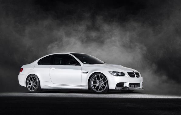 Picture BMW, white, Vorsteiner, front, E92