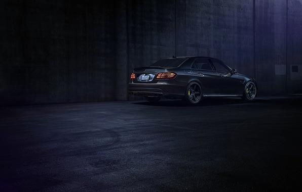 Picture Mercedes-Benz, Dark, California, Motorsport, Sonic, E63, Rear, Ligth, Nigth, AMG S