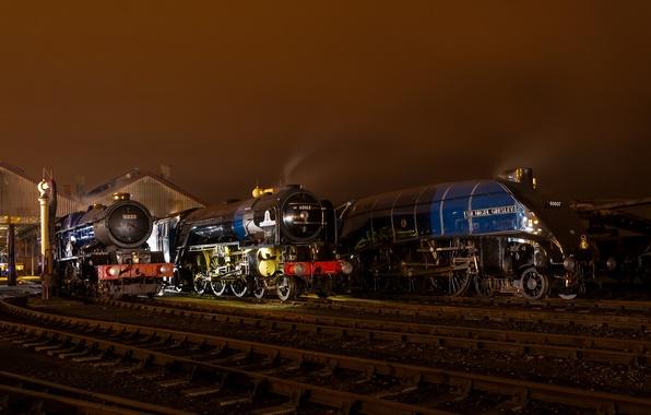 Picture rails, station, railroad, trains