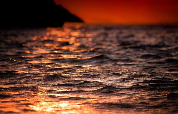 Picture sea, wave, summer, the sun, light, heat, Shine, the evening, plays, bokeh
