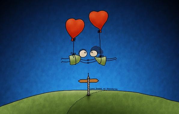 Picture balls, border, Love