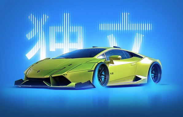 Picture Concept, Lamborghini, Japan, Style, Yellow, Future, Huracan, by Khyzyl Saleem