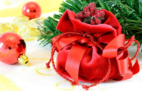 Picture decoration, tree, new year, branch, gifts, new year, merry christmas, Christmas toys, pradnik, balls. bag