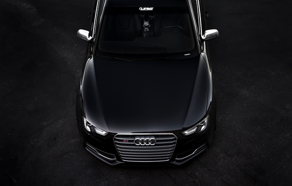 Picture Audi, Audi, black, before, black, front