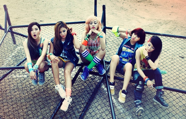 Picture music, girls, Asian girls, South Korea, GLAM, K-pop
