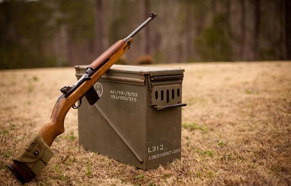 Picture field, box, carabiner, easy, self-loading, M1 Carbine